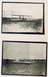 Two views of the Wright 1909 Signal Corps Flyer on the ground at Fort Myer