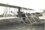 Orville Wright and Lt Foulois preparing for the speed trial flight July 30, 1909