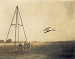 Wright 1909 Signal Corps Flyer in the air at Fort Myer