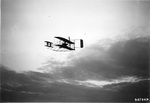 Orville Wright flying the Signal Corps Flyer