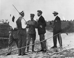 Wilbur and Orville Wright with Lt Benjamin Foulois