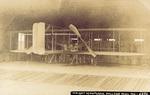 Wright Model A Flyer in a hangar