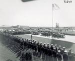 President Roosevelt arrives for inspection tour of Wright Field