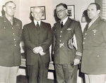 Orville Wright with Generals Echols, Gomez, and Vanaman