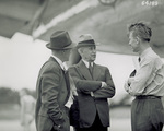 Orville Wright talking to W. F. Mentzer and Carl Cover