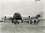 Side view of Douglas DC-4 transport plane