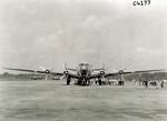 Front view of Douglas DC-4 transport plane