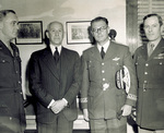 Orville Wright with Generals Gomez, Echols, and Olds