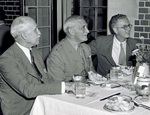 Orville Wright with General Knudsen and T. P. Wright by U.S. Army Air Forces, Service Command