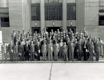 Members of the Institute of Aeronautical Sciences with Wright and Patterson Field officers