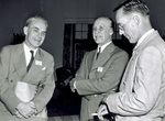 Orville Wright with Oswald Ryan and Charles Deeds by U.S. Army Air Forces, Service Command