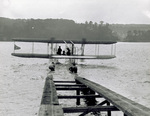 Launching of Wright Model B Flyer floatplane