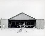 Wright Model B Flyer floatplane sitting in hangar