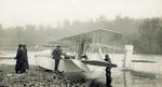 Turning propellers of Wright Model G Aeroboat