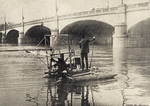 Wilbur and Orville Wright conducting hydroplane experiments
