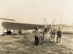 Harold Kantner with his Bleriot XI airplane