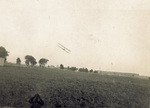 Wright Flyer in flight over Huffman Prairie