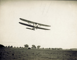 Wright Model F Flyer in flight over Huffman Prairie