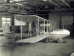 Wright Model F Flyer sitting in Wright Company factory