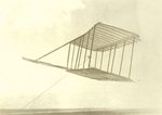 1900 Glider flying as a kite by Orville Wright