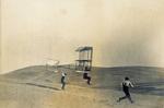 Augustus Herring test the Chanute-Herring multiwing glider