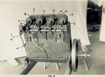 Bottom view of the Wright 1903 engine, January 10, 1928