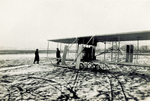 Witnesses wait for Orville Wright to take-off
