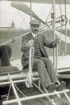 Duval La Chapelle sitting in Wright Flyer