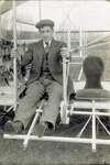 Arthur L. Welsh seated in Wright Model B Flyer