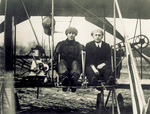 Waite and newspaper photographer with Wright Model B Flyer