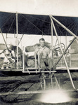 Lt. Kenneth Whiting seated in Wright Model B Flyer