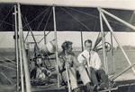 Rinehart and Whitting sitting in Wright Model B Flyer