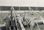 Rinehart, Stinson, and three student pilots at Huffman Prairie