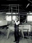 Rigging rudder of Wright Flyer