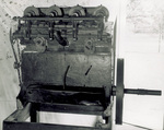 Bottom view of four-cylinder horizontal Wright engine