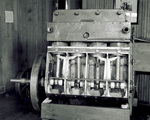 Top view of four-cylinder horizontal Wright engine