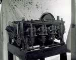 Side view of four-cylinder horizontal Wright engine