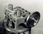 Disassembled half-scale reproduction of 1903 engine
