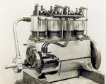 Four-cylinder vertical Wright engine