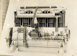 Six-cylinder vertical Wright engine