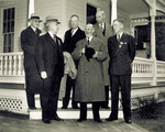 Orville Wright with a group of distinguished military guests