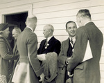 Reception line on the porch of the Wright home