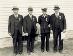 Orville Wright with Etheridge, Tate, and Daniels