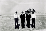 Orville Wright, William Tate, Elijah Baum, and an unknown man at 1900 camp by Griffith Brewer