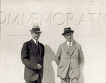 Orville Wright and Griffith Brewer at the National Memorial by Overman