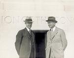 Orville Wright and Griffith Brewer at National Memorial by Overman