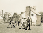 Henry Ford and Orville Wright walking at Greenfield Village