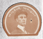French newspaper portrait of Wilbur Wright.