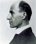 Left profile portrait of Wilbur Wright