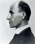 Left profile portrait of Wilbur Wright